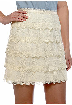 Caitlin Michelle Lace Tiered Skirt
