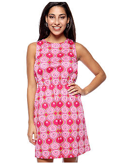 ellen & ollie Tie V-Back Printed Dress