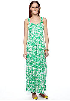 ellen & ollie Sweetheart Printed Maxi Dress