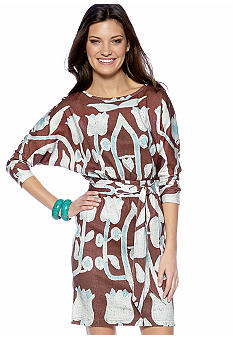Stone Morris South Digital Printed Knit Dolman Sleeve Dress