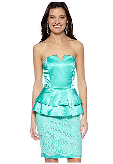 Megan Masters Strapless Double Peplum Dress