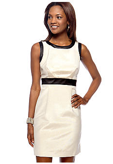Megan Masters Lurex Contrast Sheath Dress