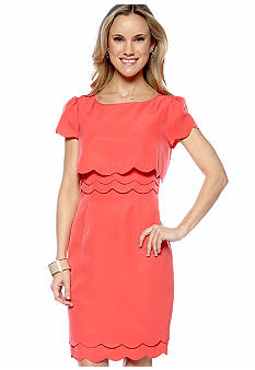 Megan Masters Molly Multi-Scalloped Sheath Dress
