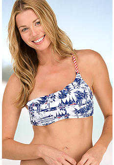 Sperry Top-Sider One Shoulder Bandeau Bra Swim Top
