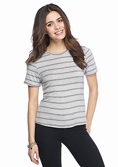 Rebellious One Striped Ringer Tee