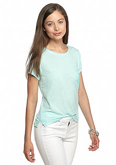 Rebellious One Short Sleeve Stripe Chic Boxy Tee