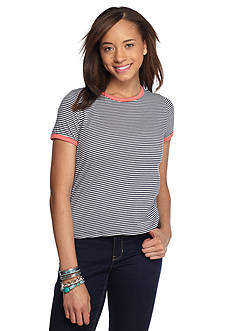 Rebellious One Short Sleeve Striped Ringer Tee