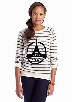 Pretty Rebellious Striped Paris Sweatshirt