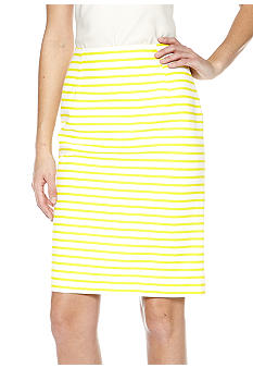 Isaac Mizrahi New York Stripe Pencil Skirt