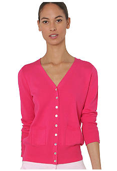 Isaac Mizrahi New York Cuffed Cardigan with Front Pockets
