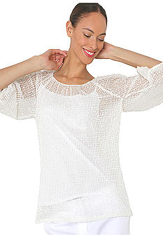 Isaac Mizrahi New York 3/4 Sleeve Lace Sequin Top