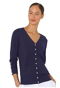 Isaac Mizrahi New York Button Cardigan with Pockets