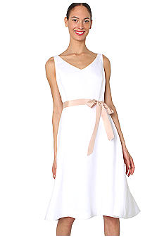 Isaac Mizrahi New York Ribbon Belted A-line Dress