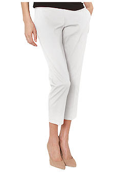 Isaac Mizrahi New York Stretch Sateen Ankle Pant