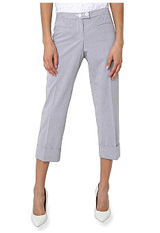 Isaac Mizrahi New York Pin Stripe Cuffed Ankle Pants