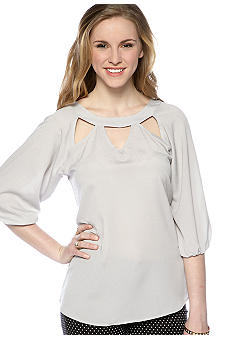 Lily White Cut Out Blouse