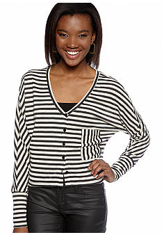 Lily White Stripe Pocket Knit Top