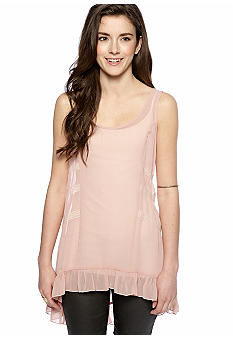 Lily White Lace Trim Tank