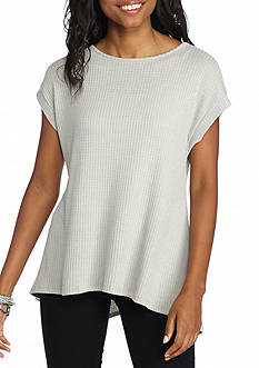 Lily White Short Sleeve Thermal Tunic