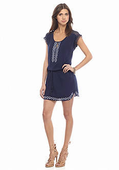 Miss Me Sportswear Embroidered Trim Shift Dress