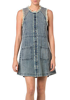 Miss Me Sportswear Frayed Edge Jean Dress