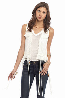 Miss Me Sportswear Beaded Fringe Lace Vest