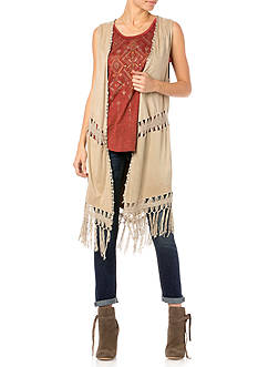 Miss Me Run Wild Fringe Vest