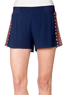 Miss Me® Sportswear Embroidered Short