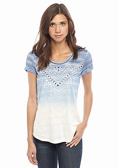 Miss Me Sportswear Ombre Embellished Top