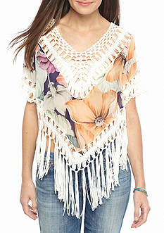 Miss Me Knotty Or Nice Fringe Top
