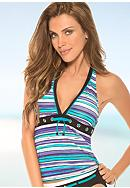 Eco Swim Stripe Halterkini