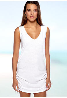 Eco Swim Shirred Dress Cover Up