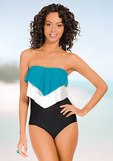 Eco Swim One Piece Layered Ruffle Bandeau