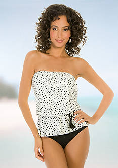 Eco Swim Speckle Dot Blouson Bandeaukini