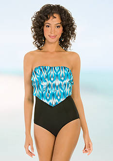 Eco Swim Eco Mist Layered One Piece Swimsuit