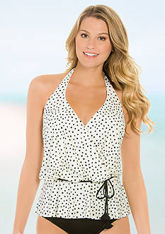 Eco Swim Speckle Dot Halterkini Blouson
