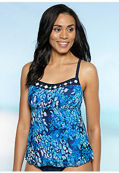 Ruby Rd/ Malibu Design Group Mesh Peasant Tankini