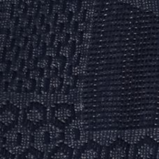 Knit Tops for Women: Henson Navy Chip & Pepper CALIFORNIA Crochet Front Top