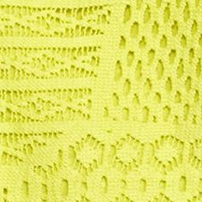 Contemporary: Tops: Acid Yellow Chip & Pepper CALIFORNIA Crochet Front Top
