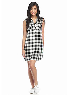 As U  Wish Buffalo Plaid Sleeveless Dress