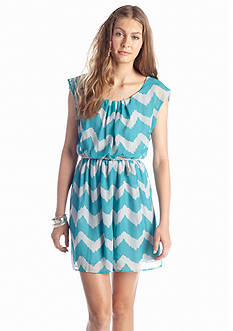 Red Camel® Chevron Belted Dress