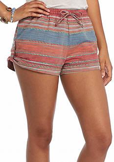 Indigo Rein Striped Jacquard Tab Shorts