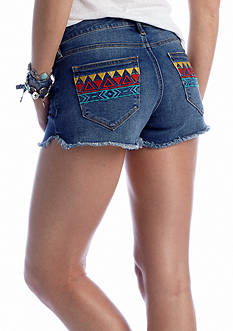 Chip & Pepper® CALIFORNIA Embroidered Dolphin Hem Short