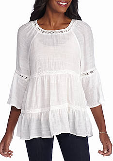 Spense Tiered Peasant Top