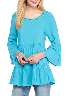Spense Tiered Woven Top