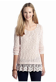 OH M G! LACE BOTTOM SWEATER on The Hunt