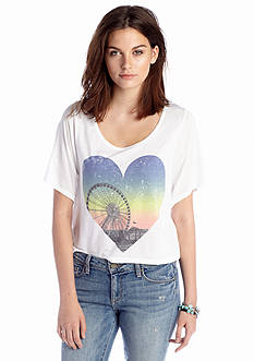 Jessica Simpson Danna Screen Print Crop Top