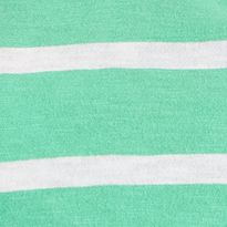 Layering Tees for Women: Green/White crown & ivy™ Authentic V-Neckline Scale Stripe Short Sleeve Tee