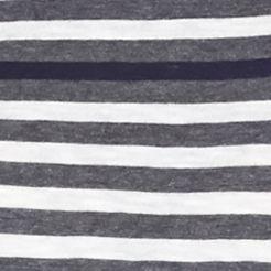 Women's T-shirts: Medina Gray crown & ivy™ Striped Long Sleeve Tee