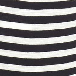 Women's T-shirts: True Black crown & ivy™ Striped Long Sleeve Tee